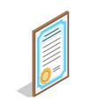 diploma for educational institution graduation vector image