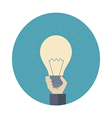 Hand with lamp vector image