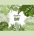landscape frame tropical leaves vector image