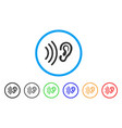 listen rounded icon vector image
