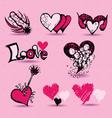 love item Doodles vector image