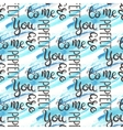 Romantic quote seamless pattern Love text for vector image