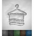 towel icon vector image vector image