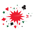 Abstract Card Game Boom vector image vector image