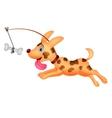 Funny dog running vector image