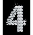 Diamond alphabetic figure vector image
