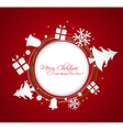 paper Christmas ornaments greeting card vector image