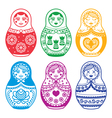 Matryoshka Russian doll design vector image