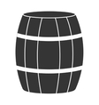 black barrel and white stripes graphic vector image