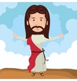 cartoon Jesus christ bless design vector image