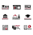 concept education icons vector image