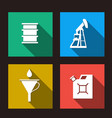 fuel set icons vector image