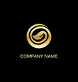 gold leaf round organic logo vector image