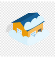 house covered with snow isometric icon vector image