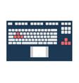 notebook keyboard panel vector image