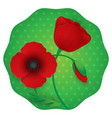 paper flower realistic style of red vector image