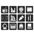 Black School and education icons vector image vector image