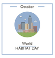 World Habitat Day vector image