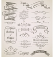 Hand drawn vintage elements vector image