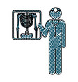 color pencil drawing of pictogram doctor and vector image