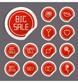 Flat Sale Stickers vector image vector image