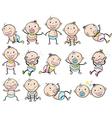 Playful babies vector image vector image