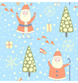 Forest santa seamless pattern vector image