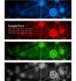 Abstract glowing banners vector image
