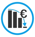 Euro Epic Fail Crisis Rounded Icon vector image