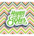 Happy Easter greeting card with hand lettering vector image