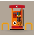 Gas pump station vector image