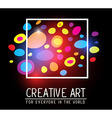 simple white square frame with colorful s vector image