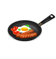 frying egg breakfast vector image