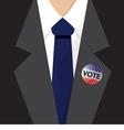 T-Shirt USA Flag Vote 2016 vector image