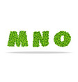 alfavit from the leaves of the clover letters mno vector image