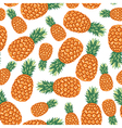 ananas pattern vector image