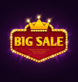 big sale casino discount banner with marquee vector image