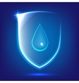 Blue glass shield vector image