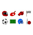 different kinds of sports icons in set collection vector image