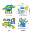 discount store credit card payment store vector image