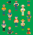 farmer worker people character agriculture person vector image