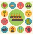 Gardening garden icons set vector image