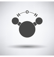 Icon of chemical molecule water vector image