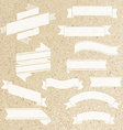 Ribbon Set With Cork Background vector image