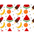 seamless texture of ice cream with fruit vector image