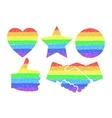 Rainbow design elements vector image
