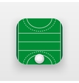 Square icon of hockey field on grass vector image