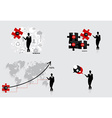 Business concept with businessman graph puzzle vector image vector image