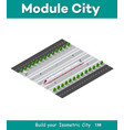 fast modern high speed train vector image vector image