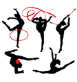 Rhythmic Gymnastics Silhouette vector image vector image